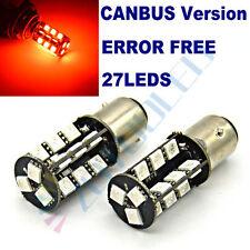 2x Car Stop Brake light bulbs RED 1157 BAY15D 380 Dual Filaments 27LEDs CANBUS