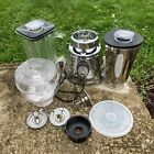 Vintage Oster Osterizer Deluxe Model 564A Chrome Beehive Glass Blender BUNDLE!!