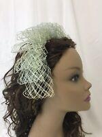 Vtg Women's Mint Green Netting Headband Headpiece Fascinator Hat 1940's 1950's