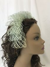 Vtg Women's Mint Green Netting Headband Headpiece Fascinator Hat 1940's 1950's
