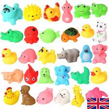 10pcs Rubber Children Animals Swimming Sound Squeeze Toys Baby Shower Bath ER