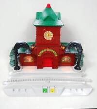 Fisher Price Geotrax Christmas Toy Town Train Station Light-up Musical Railroad