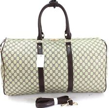 L Italian Leather Style Holdall Luggage Weekend Duffel Cabin Travel Bag Case