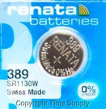 1 pc 389 Renata Watch Batteries SR1130W  FREE SHIP 0% MERCURY