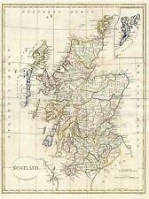 1799 Clement cruttwell mappa Scozia vintage repro poster art print 2882pylv