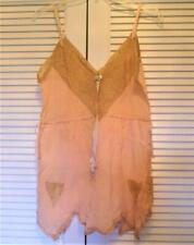 1940's Lingerie Teddie/ Soft Peach Color w/ Beige Lace /Never used