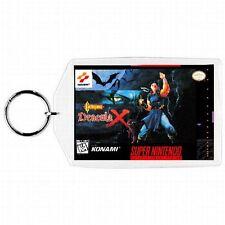 Super Nintendo Snes CASTLEVANIA DRACULA X Game Box Cover Cartridge Keychain