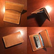 Finest Horween Leather Micro Card Wallet Black Or Tan