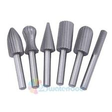 "6Pcs 1/4"" Tungsten Carbide Cutter Rotary Burr Set CNC Engraving Bit Rotary File"