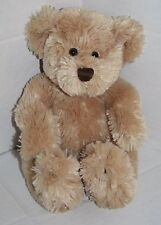 """Animal Adventure TEDDY BEAR 10"""" 2004 Sits 8"""" Tan Plush Soft Brown Stitched Nose"""