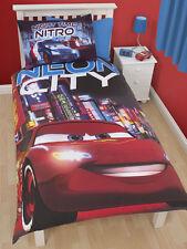 Disney Pixar Cars ropa de cama 135x200 Lightning McQueen Neón Ciudad NUEVO