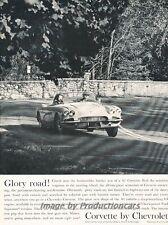 1961 Corvette - Glory Road - Original Advertisement Print Car Ad J455