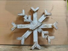 "Wood Snowflake - Made in America - 24"" x 24"""