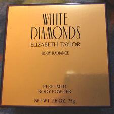 White Diamonds Elizabeth Taylor Perfumed Body Powder New In Box 2.6 Oz 75g