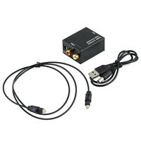 DAC Digital Optical Coax Coaxia Toslink to Analog RCA Audio Converter Adapter VF
