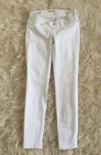 New Madewell Maternity Skinny Jeans In Pure White Sz 26 G3310