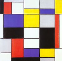 Abstract Art - Piet Mondrian - Composition A Painting Fine Art Canvas Print New