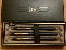 CROSS Blue Gold Filled Trio Ball Point/Pencil/ Old Stock Barely Used, USA, Rare