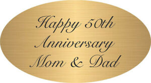 """PERSONALIZED 2.5"""" x 1.75"""" OVAL BRASS PLATE PLAQUE CUSTOM ENGRAVED MEMORIAL"""