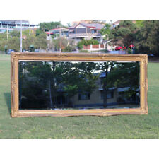 Wooden Mirror Large Gold Bevelled wall mirror & Frame Antique 184CM X 84CM
