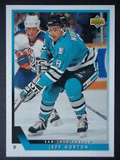 NHL 512 Jeff Norton San Jose TIBURONES UPPER DECK 1993/94