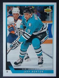 NHL 512 Jeff NORTON SAN JOSE SHARKS UPPER DECK 1993/94