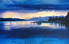 "FRANK LICSKO ""CALM"" Hand Signed Limited Edition Serigraph Art from 1989"