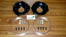 Headlamp Retaining Ring Mounting Bucket 28pc Kit w/ hardware Camaro Nova rings