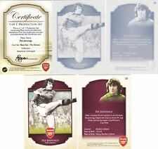 2015 Futera Unique Arsenal Production Set Base #38 Pat Jennings 1/1