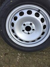 VW CADDY TOURAN SPARE WHEEL BRAND NEW STEEL WHEEL WITH NEW HANKOOK TYRE