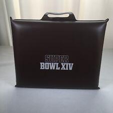 "Super Bowl XIV Stadium Seat Cushion Vintage 1979 Steelers Rams 15"" X 12"" Brown"