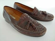 "Mezlan ""Durango"" Genuine Crocodile Woven Tassel Loafers Men's Shoes Size 10 M"
