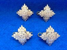4 BRITISH ARMY OFFICERS LIEUTENANTS BATH STAR GOLD RANK PIPS 23MMX23MM 32MM DIAG