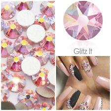 Swarovski x 50 MIXED SIZE Light Rose AB GLUE ON Crystals Rhinestones Nail Art
