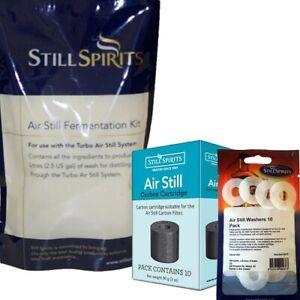 STILL SPIRITS AIR STILL FERMENTATION KITS X10 CARBON CARTRIDGES x10 (NO WASHERS)