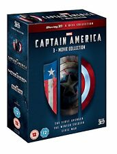 CAPTAIN AMERICA 3D Trilogy [Blu-ray 3D Box Set] Complete 1 2 3 Marvel Collection