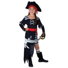 CARIBBEAN PIRATE PRINCESS GIRL FANCY DRESS HALLOWEEN PARTY COSTUME LG 8-10 REDUC