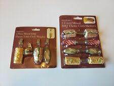 BBQ Theme Corn Skewers and Table Cloth Weights
