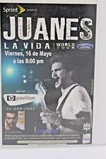 JUANES LA VIDA WORLD TOUR MAY 16 HP PAVILION SAN JOSE HANDBILL FLYER