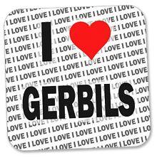 I Love Gerbils - Drinks Coaster - Gift - Birthday - Stocking Filler