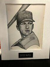 #11/100 Mickey Mantle Litho New York Yankees artist Robert Stephen Simon 11x14