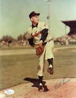 Bob Lemon Signed 8x10 JSA COA Photo Autograph 8x Cleveland Indians Pitcher