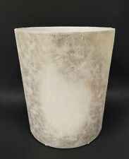 NEW METALLIC PALE GOLD CHAMPAGNE FABRIC TRASH CAN,WASTE BASKET,BIN