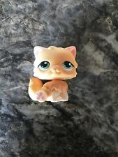 Littlest Pet Shop LPS # 217 Persian Cat Orange With Green Eyes Authentic