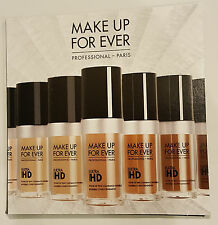 Make up For Ever Ultra HD Fluid Foundation - 4 Shade Sample Set New