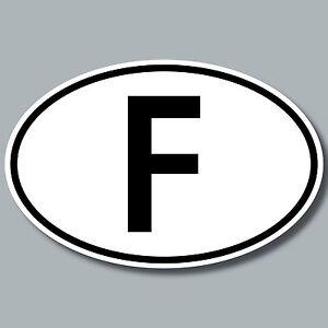 F Aufkleber Auto Sticker FRA FR Frankreich Länderkennzeichen 4061963019801