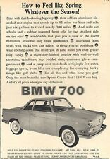 1960 BMW  PRINT AD  '700' Bavaria Motor Works Sports Coupe