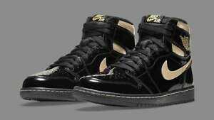 Nike Air Jordan 1 Retro High OG SZ 10.5 Metallic Gold Black Black 555088-032