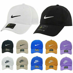 Nike Mens Baseball Caps Swoosh Metal Logo Cap Sports Golf Adjustable Hat