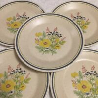 Five (5) Summer Spice Temper Ware By Lenox Bread And Butter Plates Dessert Plate